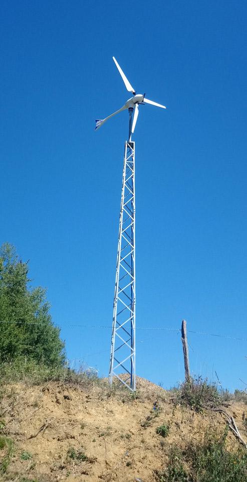 eolienne ENAIR 70 implantation - Une éolienne à la tuilerie - Une éolienne à la tuilerie