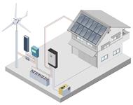 schema eolien solaire isole hybride - Génération solaire services - Génération solaire services